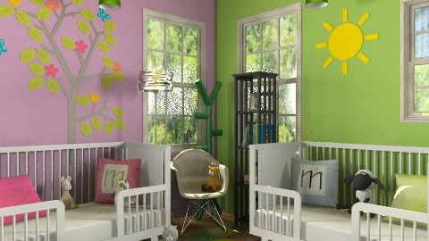 Miles and Meaghan Twin Nursery  - Modern - Kids room  - by ocbruner