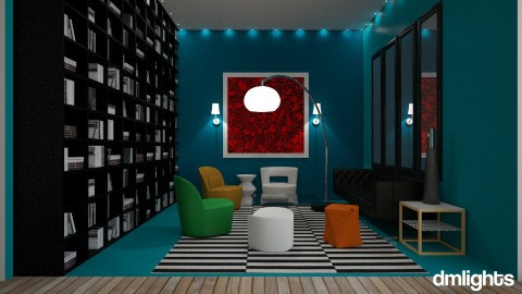 Little Blue Lounge - Living room - by DMLights-user-997247
