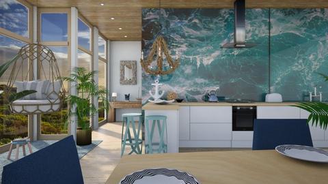 Ocean kitchen2 - Kitchen  - by ginamelia22