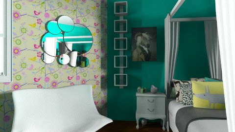 bedroom - Retro - Bedroom  - by Rani Bonte