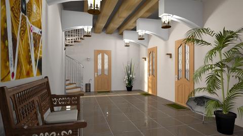 modern playful hallway - by ilcsi1860