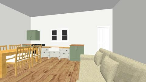 Cottage kitchen - Living room  - by Jilleaton