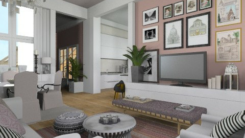LE2 - Eclectic - Living room  - by du321