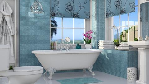 Blue Bath - Bathroom  - by GraceKathryn
