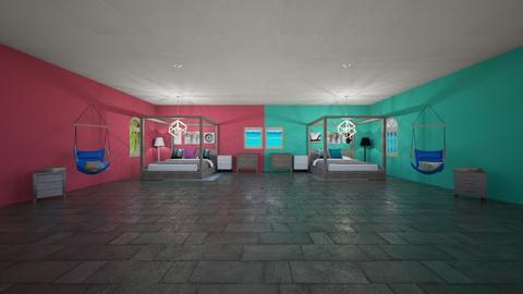 pink VS teel - Modern - Bedroom  - by westernwind