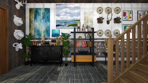 Hallway Maximalism - Modern - by kristenaK