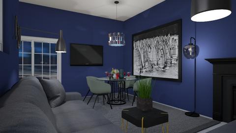 Blue vave - Living room  - by rechnaya