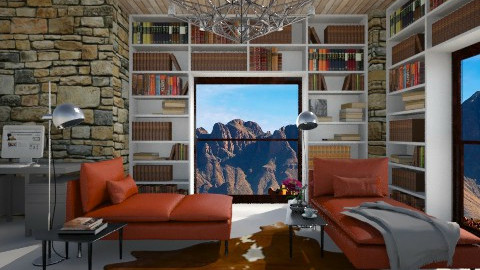 Loungey Library - Modern - Living room  - by 3rdfloor