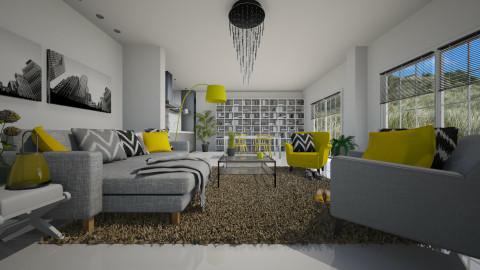 Yellow accents - Living room  - by Keliann