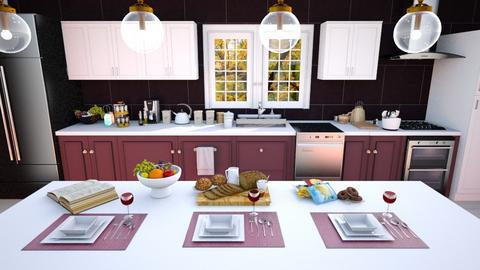 Crimson Kitchen - Kitchen  - by Feeny