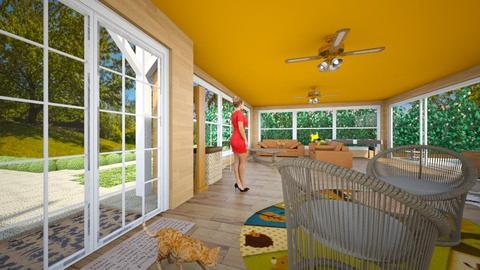 orange tabby entryway - by emmie314