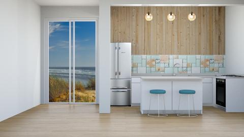 Simple Coastal Kitchen - by Feeny