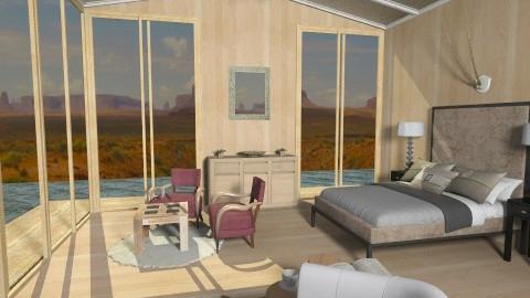 Desert WoodHouse Bedroom - Eclectic - Bedroom  - by giulygi