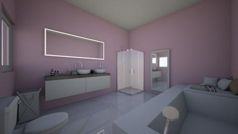 Pink metallic bathroom - Modern - Bathroom  - by Bangtanstan
