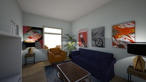 proper blue - Living room - by b00369023