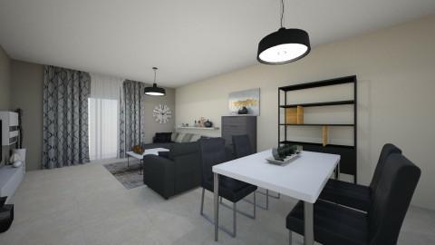 minimal living room  - by dark