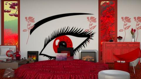 The Fire Inside Her - Modern - Bedroom  - by InteriorDesigner111