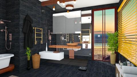Black bath - Modern - Bathroom  - by anairdna