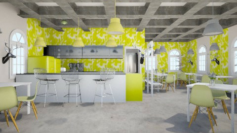 ResturantEec - Dining room - by Eericacaloi
