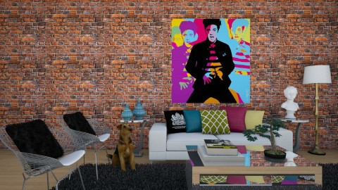 The King - Eclectic - Living room  - by DeborahArmelin