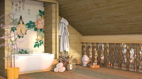 Japanese Spring  - Bathroom  - by seasidestarfish