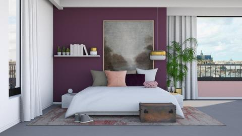 Pink and Purple - Minimal - Bedroom  - by HenkRetro1960