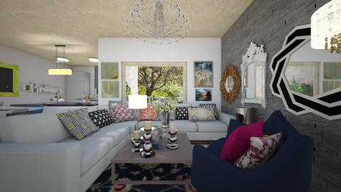 Via Bruno Bruni - Glamour - Living room  - by PROGETIM