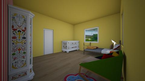 Retro Kid room - Bedroom - by DianaPalichuk