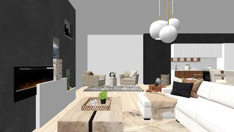 Penthouse - Living room  - by Snowy Tiger