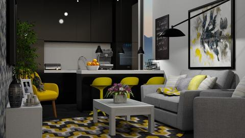 Grey - Modern - Living room  - by ievaelizabete