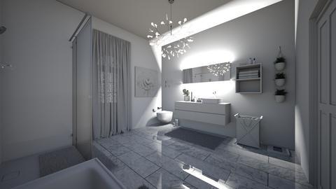 White Modern Bathroom - Modern - Bathroom  - by Sunshine Girl