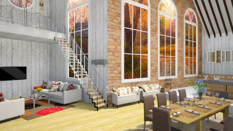 Family Converted Barn - Country - Living room  - by treacyf3