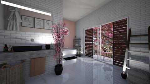 Cherry Blossom Bathroom - Bathroom  - by Meghan White