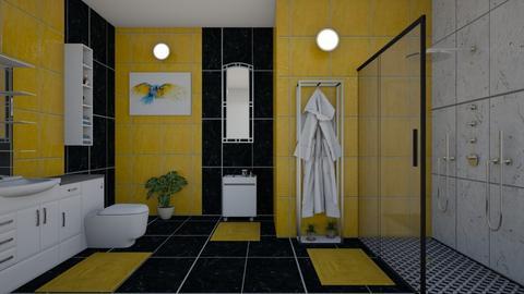 Yellow bathroom - by Ana Angela