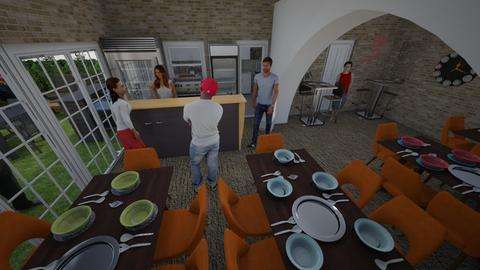 restaurant - by RALU 1234