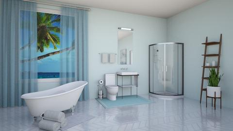 Blue bathroom - Bathroom - by beach2019