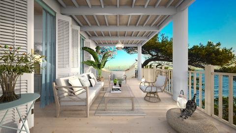 summer wooden porch - Garden  - by rasty