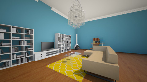 blue living room no.1 - Living room - by kenkai1004