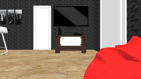 basement rec room - by Clodia Kareen