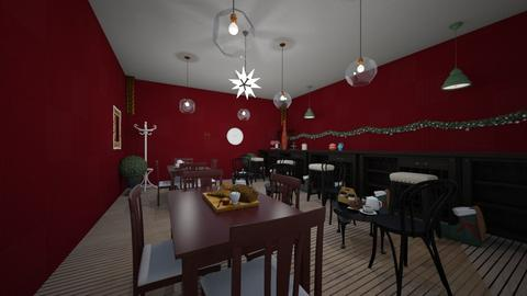 Cozy Christmas cafe - by noadesign