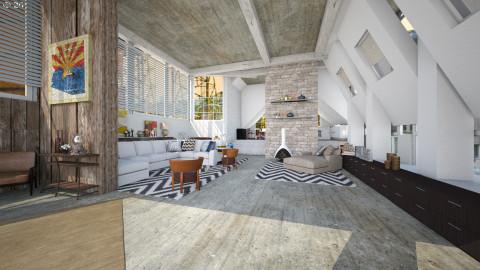 attic living - Modern - by pachecosilv
