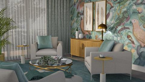 Royal Parrots Living - Modern - Living room  - by Claudia Correia
