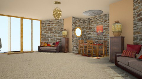 Mexican  - Rustic - Living room  - by creato