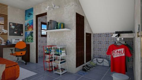 Quarto sob a Escada - Minimal - Bedroom  - by Mariesse Paim