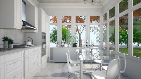 White Kitchen - Classic - Kitchen  - by JazzyAllen