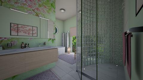 Cherry Blossom Bathroom - Bathroom  - by Phospective