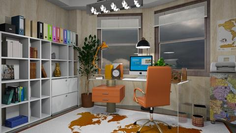 Stormy home office - Modern - Office  - by ZsuzsannaCs
