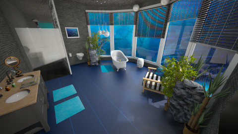 UnderWater - Eclectic - Bathroom - by donella
