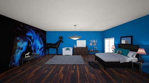 Blue Horses - Bedroom - by lovebug9426