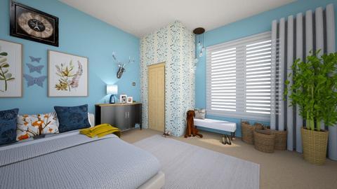blue - Classic - Bedroom  - by marielisa2323